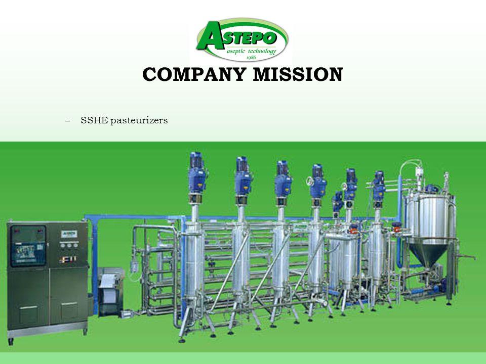 COMPANY MISSION –Ohmic (electric) sterilizers Sterilohm 120 Kwh