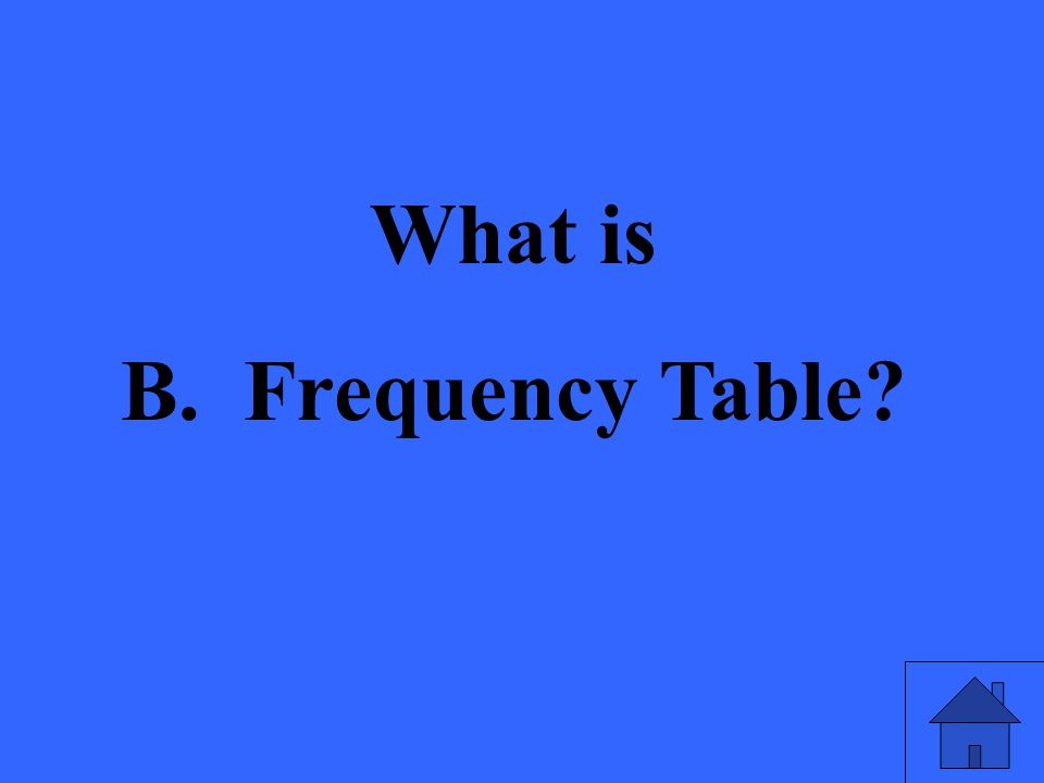 What is B. Frequency Table