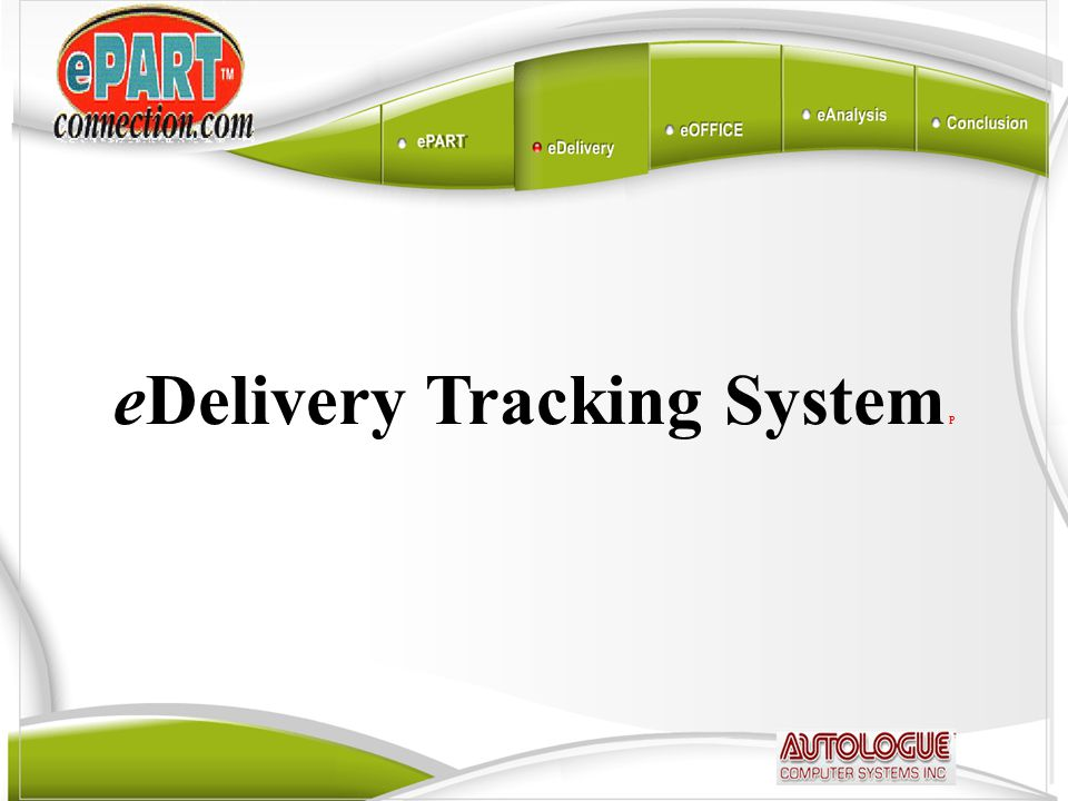 eDelivery Tracking System P