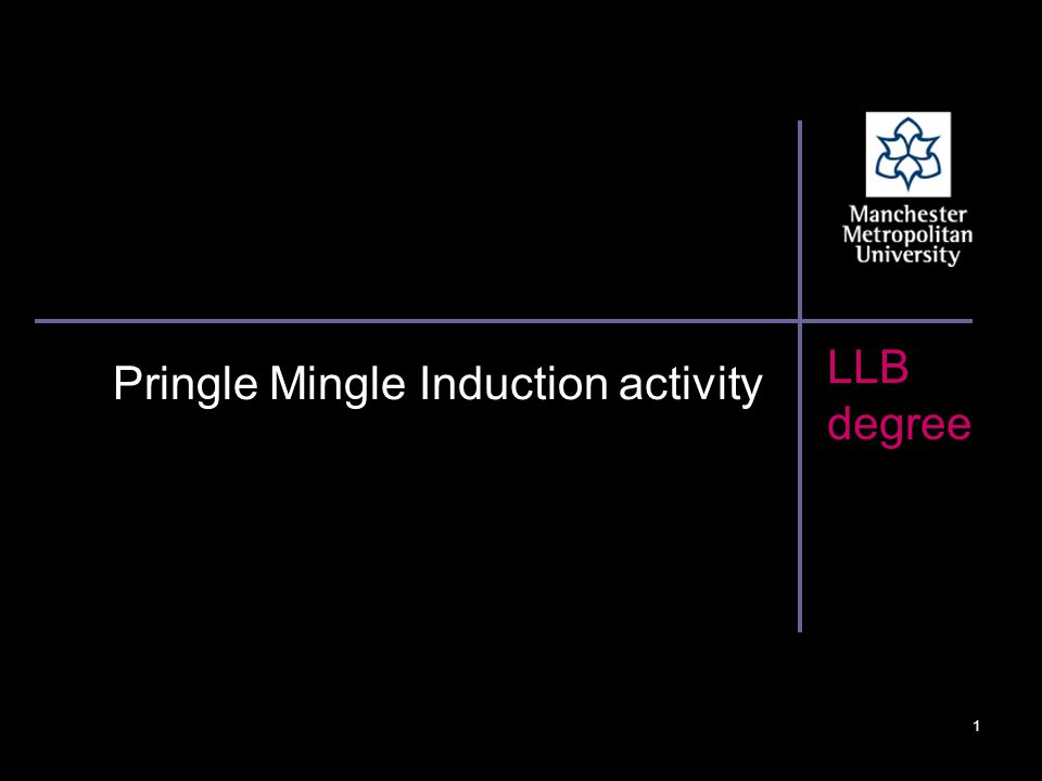 LLB degree Pringle Mingle Induction activity 1