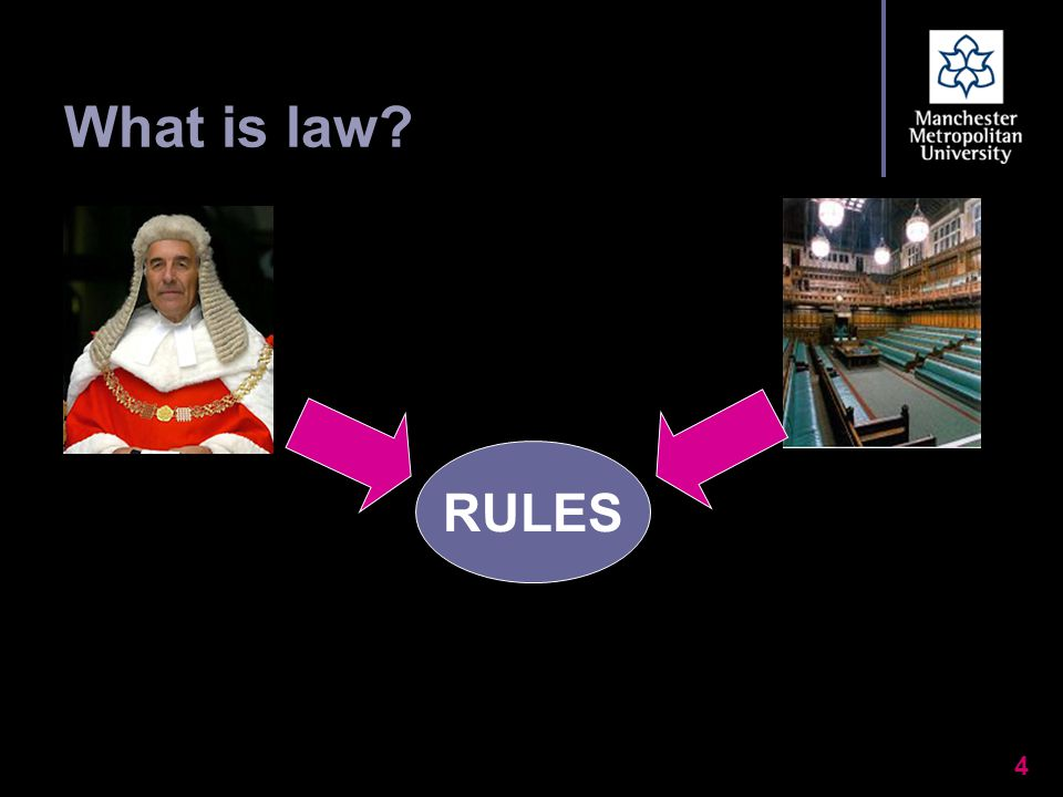 4 What is law? RULES
