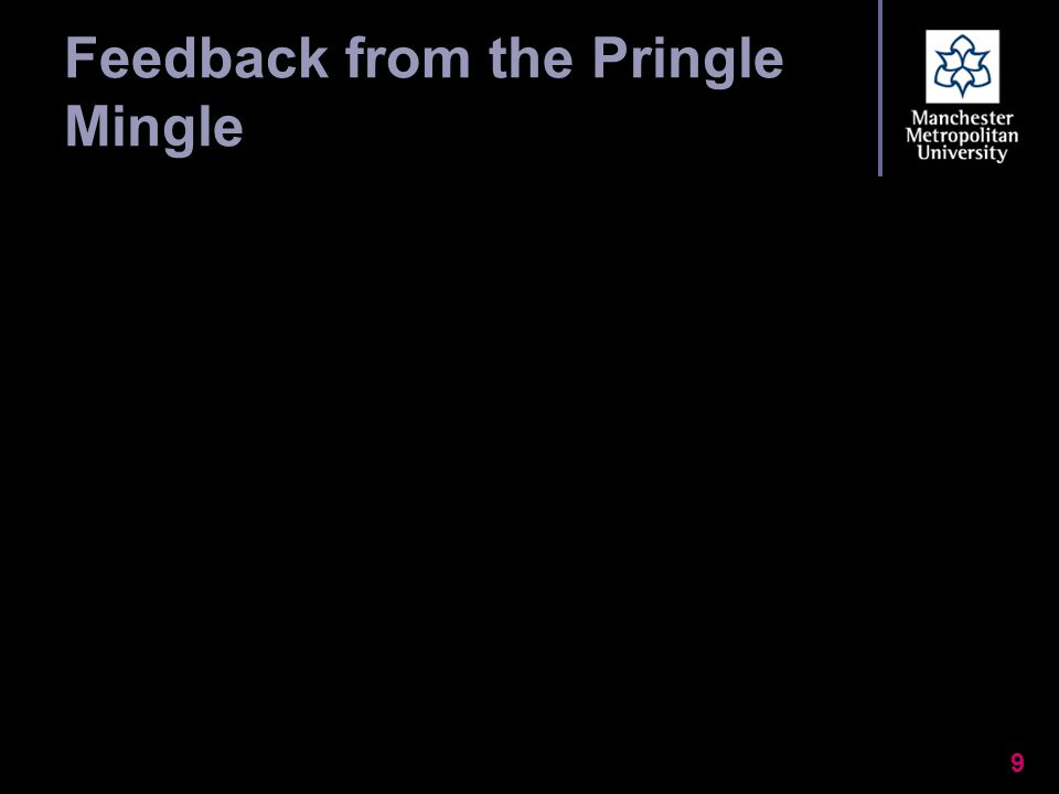 Feedback from the Pringle Mingle 9