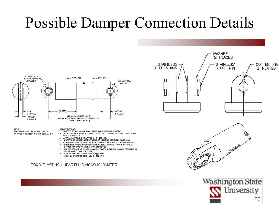 20 Possible Damper Connection Details