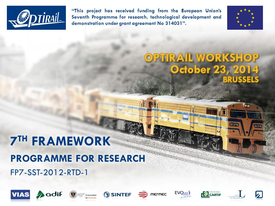 OPTIRAIL WORKSHOP · OCTOBER 23, 2014 · BRUSSELS OptiRail Tool(ing) lifecycle OptiRail Open Source OptiRail-based Market OptiRail-based Real-applications OpenSource community Productization Integration (Configuration) Decision Making Data Ingestion Management Data modelling expert out(in)sourcing