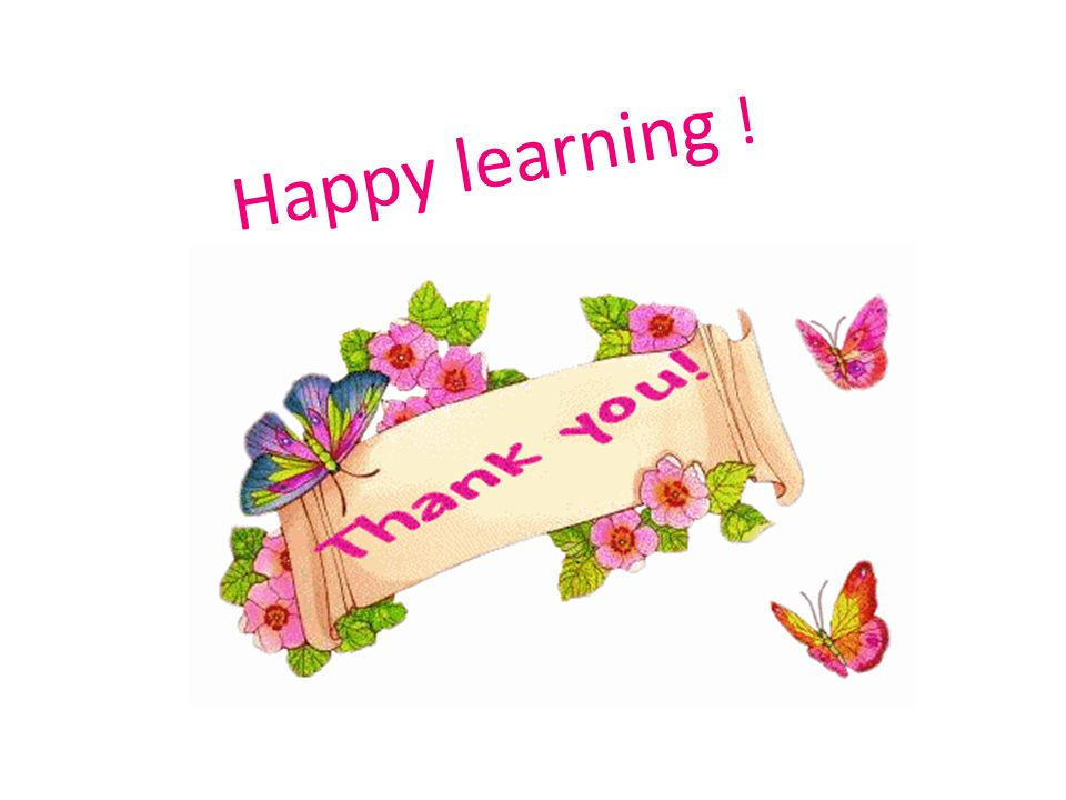 Happy learning !