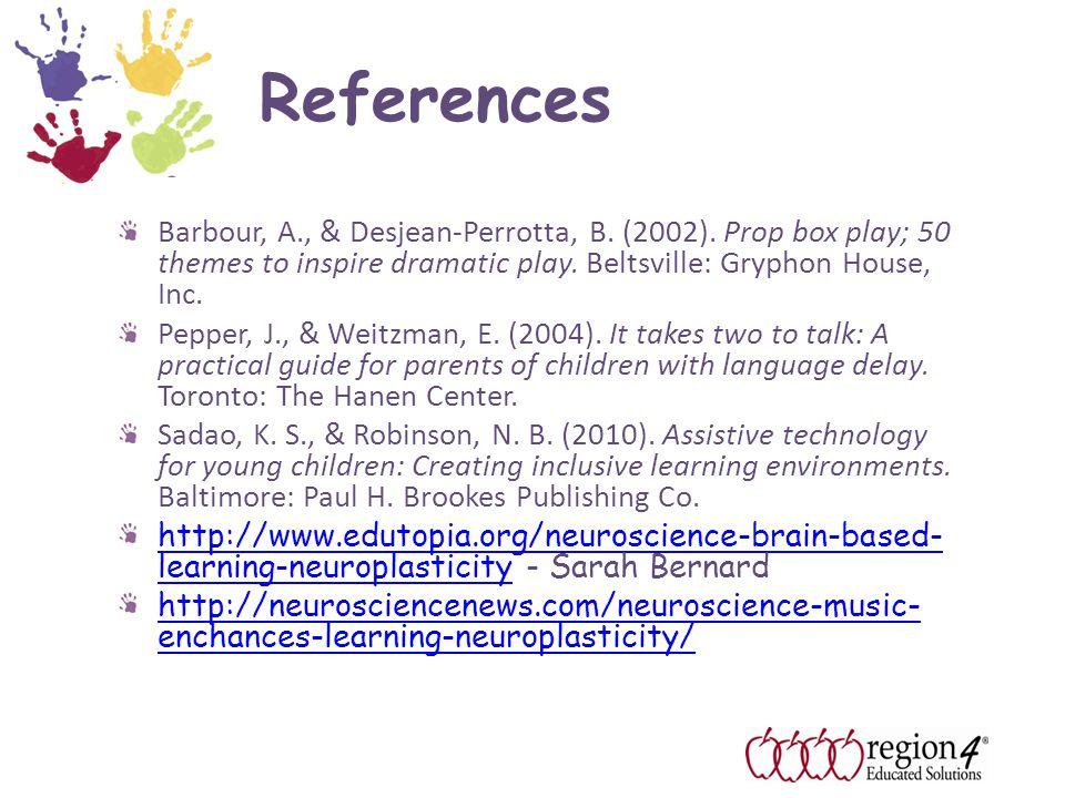 References Barbour, A., & Desjean-Perrotta, B. (2002).