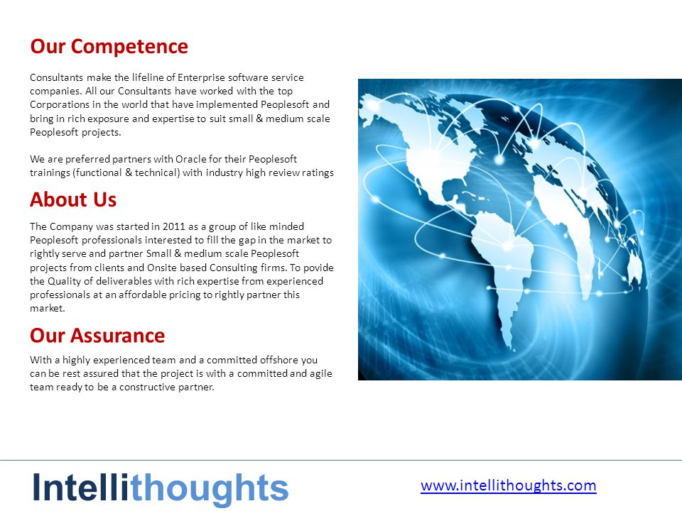 Our Competence Consultants make the lifeline of Enterprise software service companies.