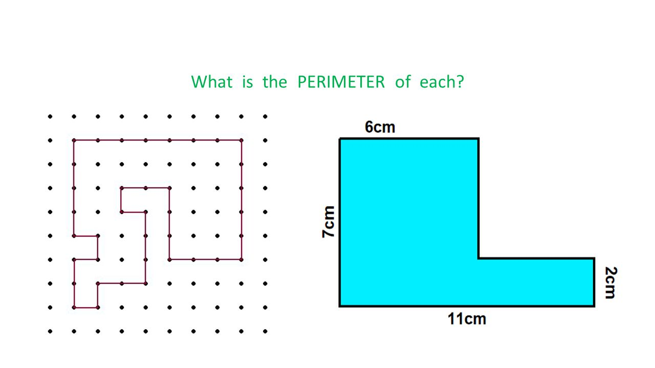 What is the PERIMETER of each?