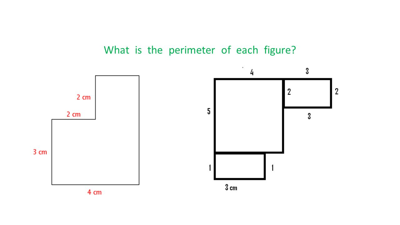 What is the perimeter of each figure?