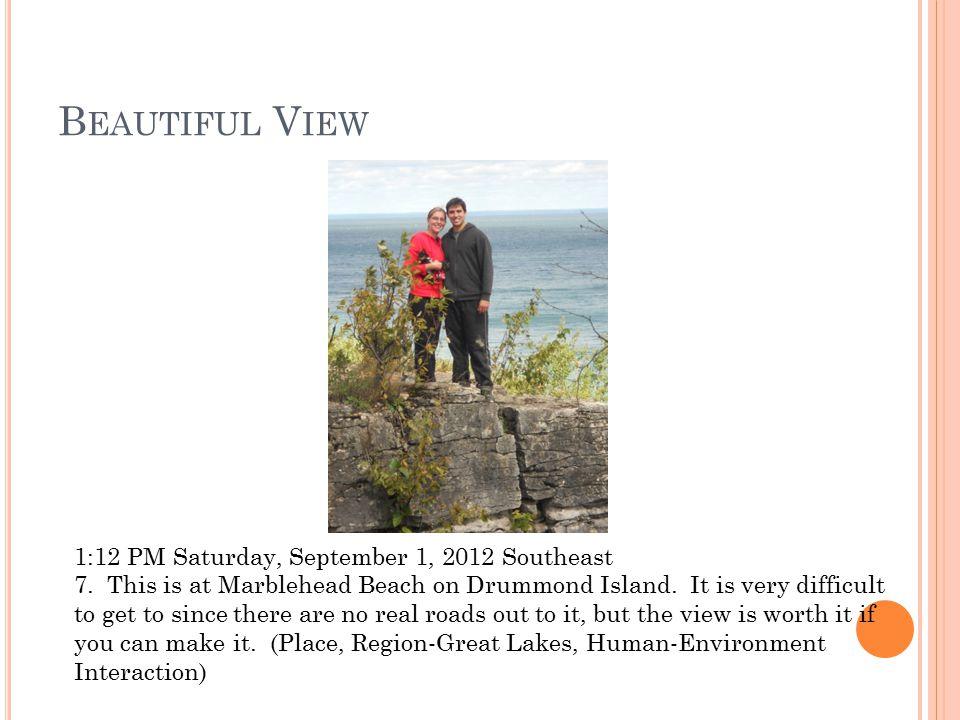 B EAUTIFUL B EACH 11:50 AM Sunday, September 2, 2012 East 8.