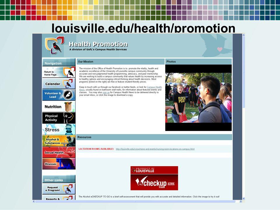 louisville.edu/health/promotion
