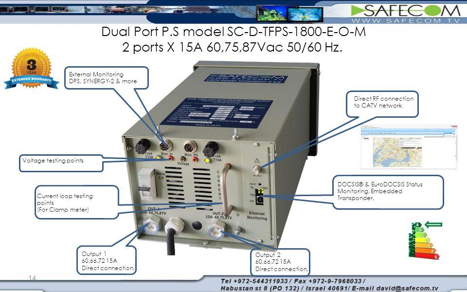 DOCSIS® & EuroDOCSIS Status Monitoring, Embedded Transponder.