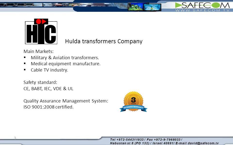 3 Main Markets:  Military & Aviation transformers.
