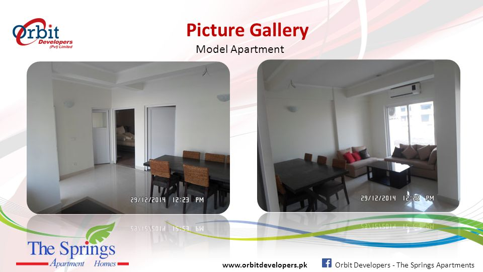 Picture Gallery www.orbitdevelopers.pk Orbit Developers - The Springs Apartments Model Apartment Entrance