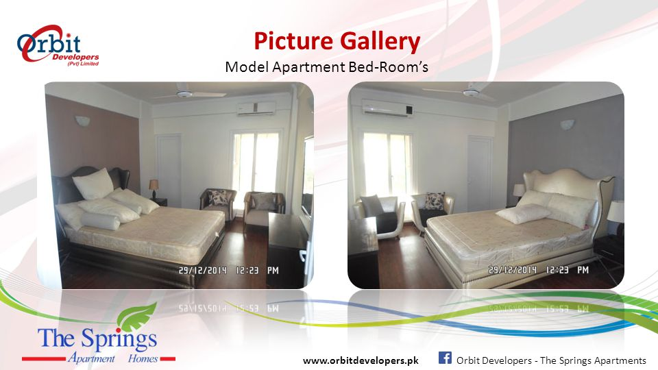 Picture Gallery www.orbitdevelopers.pk Orbit Developers - The Springs Apartments Model Apartment