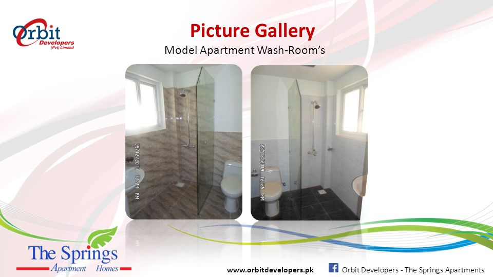 Picture Gallery www.orbitdevelopers.pk Orbit Developers - The Springs Apartments Model Apartment Bed-Room's