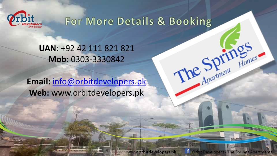 Picture Gallery www.orbitdevelopers.pk Orbit Developers - The Springs Apartments Model Apartment Wash-Room's
