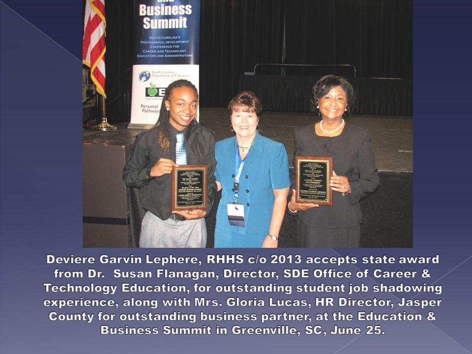 (L-R): RHHS teachers-Mrs.Susie Ingram, Mrs. Deidre Butler, Deviere, Mrs.