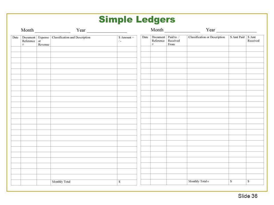Slide 36 Simple Ledgers
