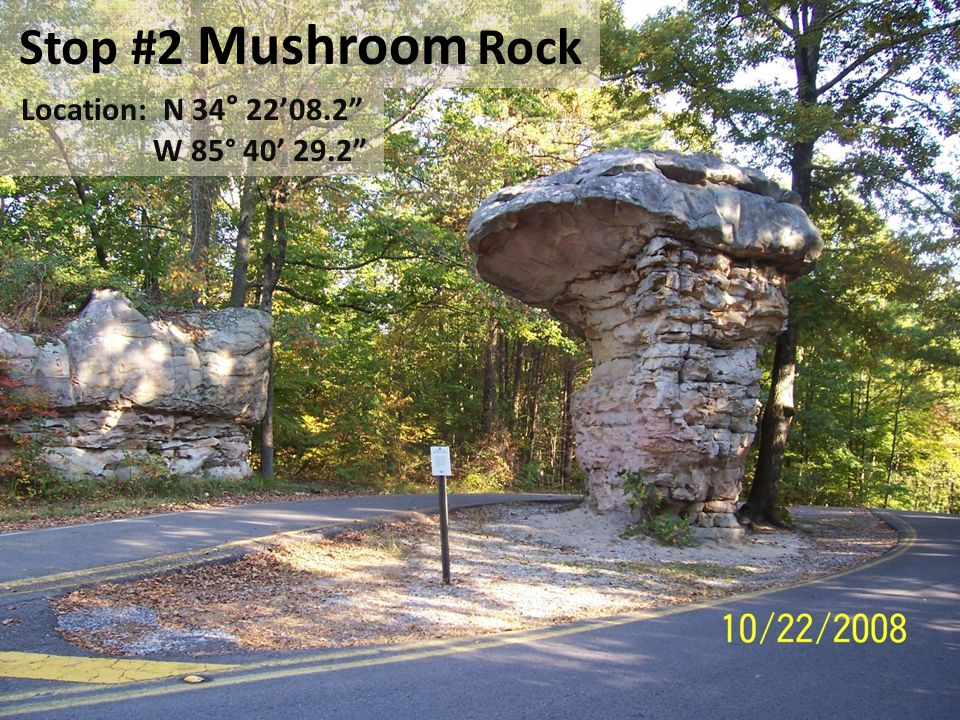 Mushroom Rock is a hoodoo.It is a giant pillar of rock sculpted by the infamous artist E.