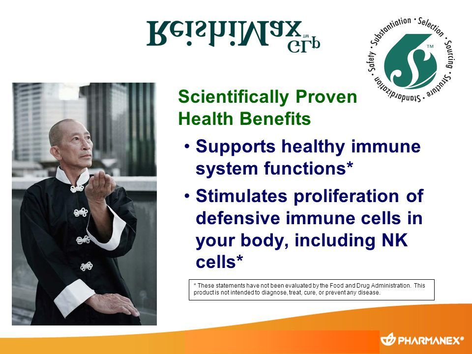 Scientifically Proven Health Benefits Supports healthy immune system functions* Stimulates proliferation of defensive immune cells in your body, inclu
