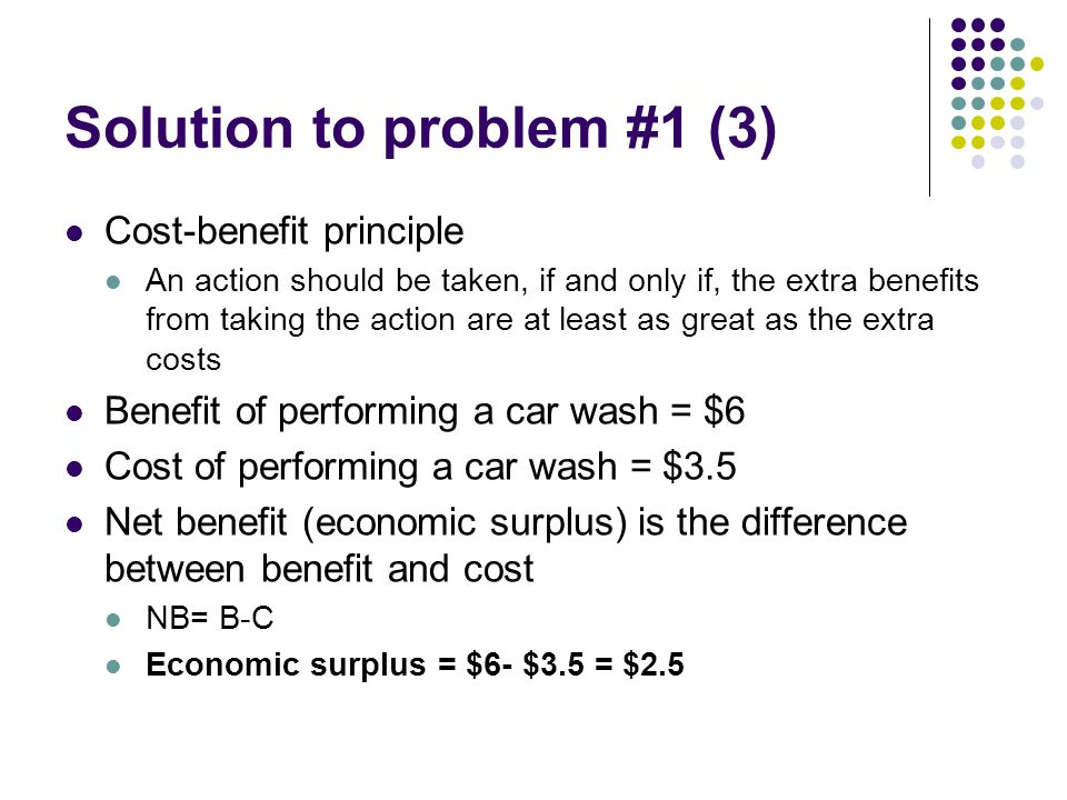 Solution to problem #7 (2) Same sunk cost Costs that have already been incurred and which cannot be recovered to any significant degree. – Dr.