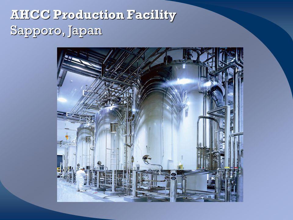 AHCC Production Facility Sapporo, Japan