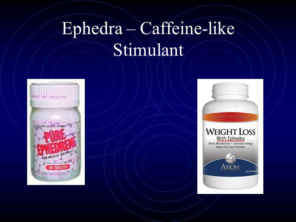 Ephedra – Caffeine-like Stimulant