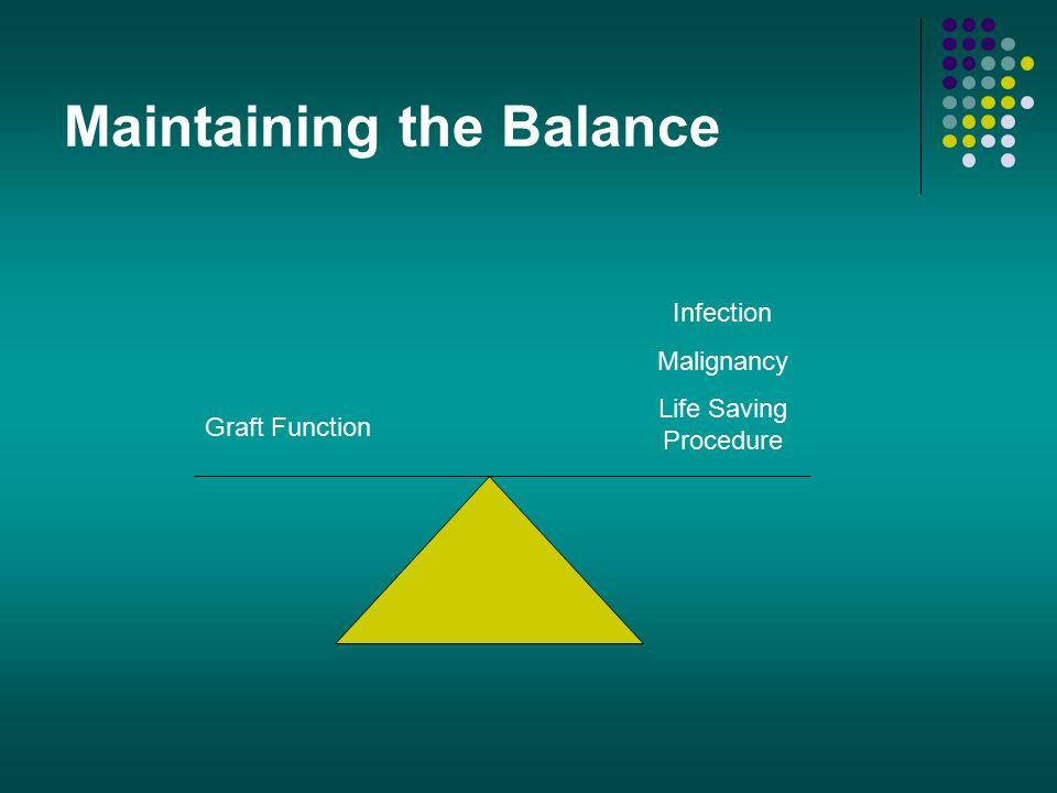 Maintaining the Balance Graft Function Infection Malignancy Life Saving Procedure