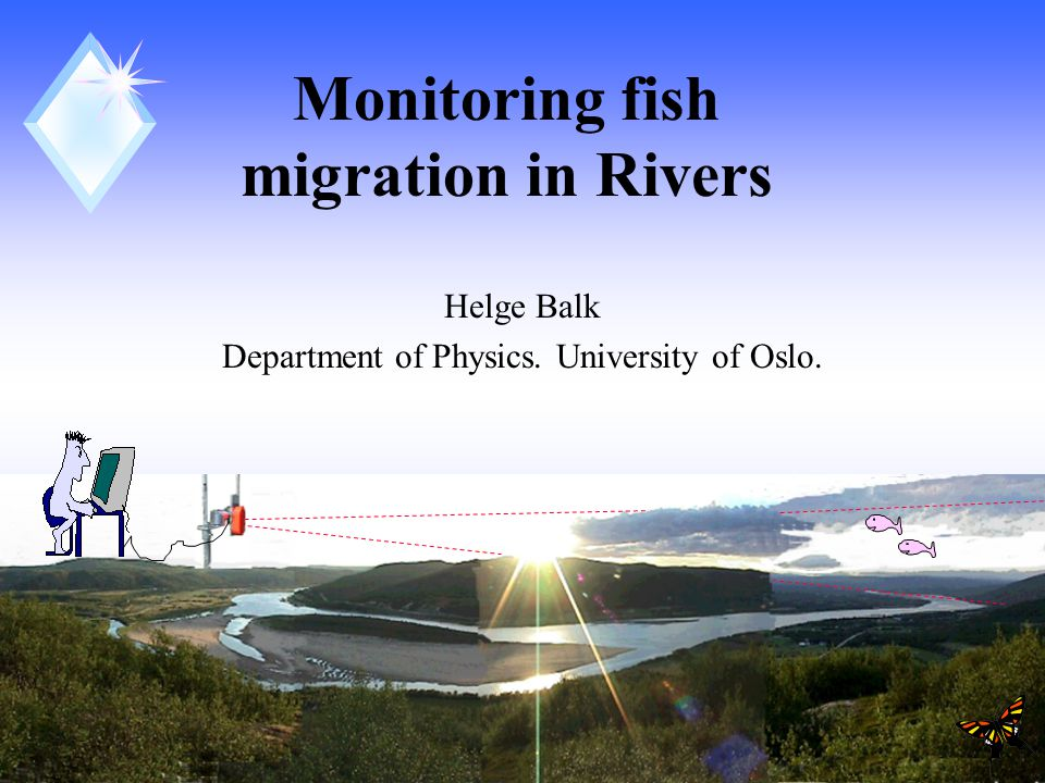 1 Monitoring fish migration in Rivers Helge Balk Department of Physics. University of Oslo.