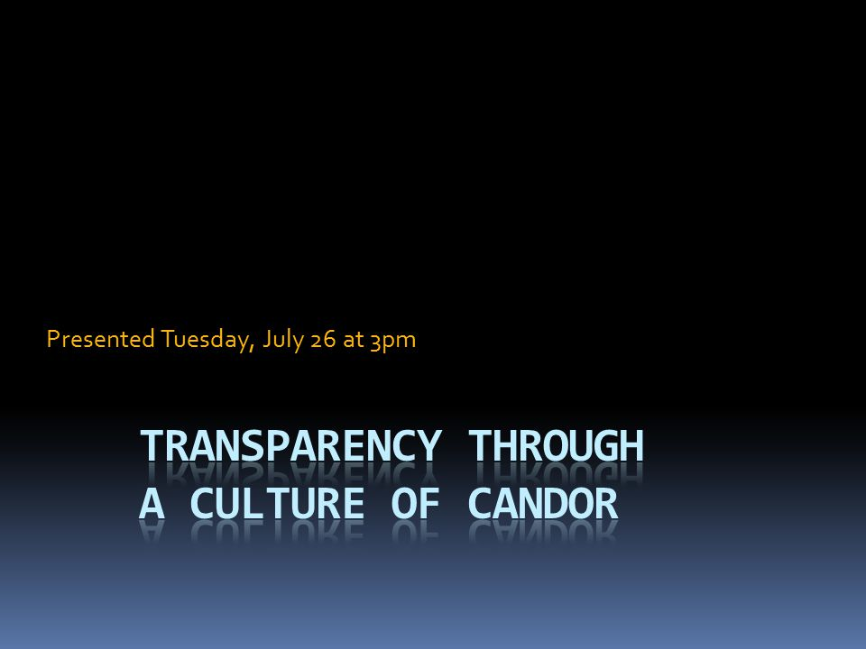 Presented Tuesday, July 26 at 3pm