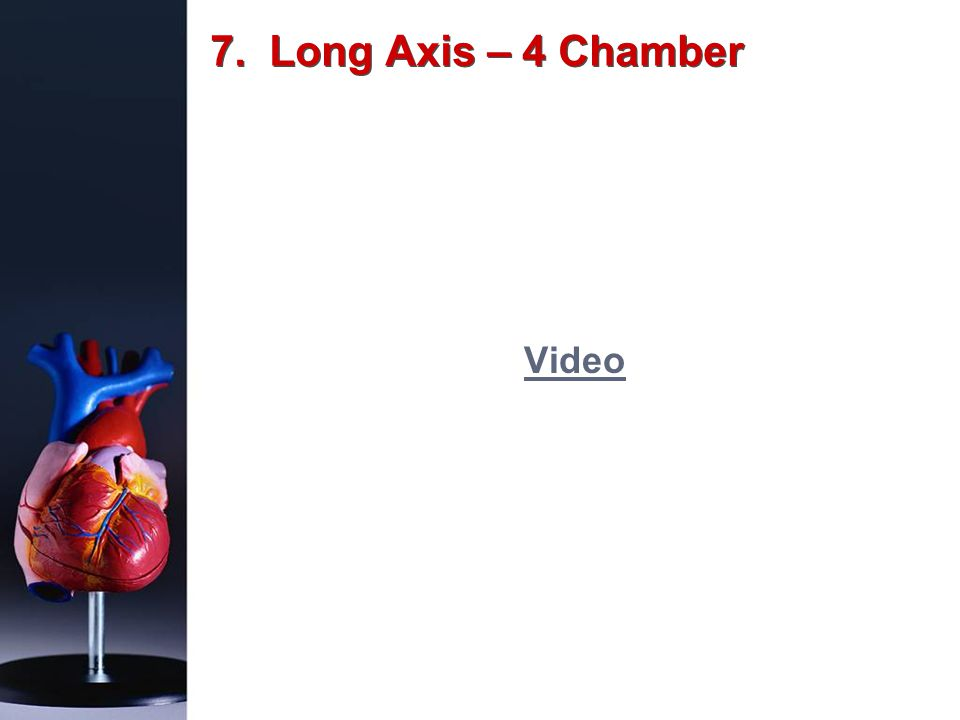 7. Long Axis – 4 Chamber Video