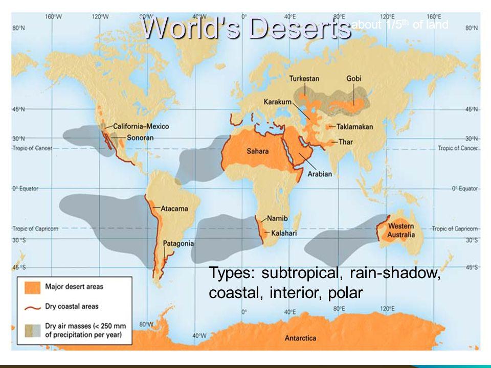 Semi-Arid Semi-arid (Steppe, Savannah, dry grassland) has Precipitation (mm) > 10 x Temperature in o C but 10 x Temperature in o C but < than 20x (c) 2004-2009 Charles L.