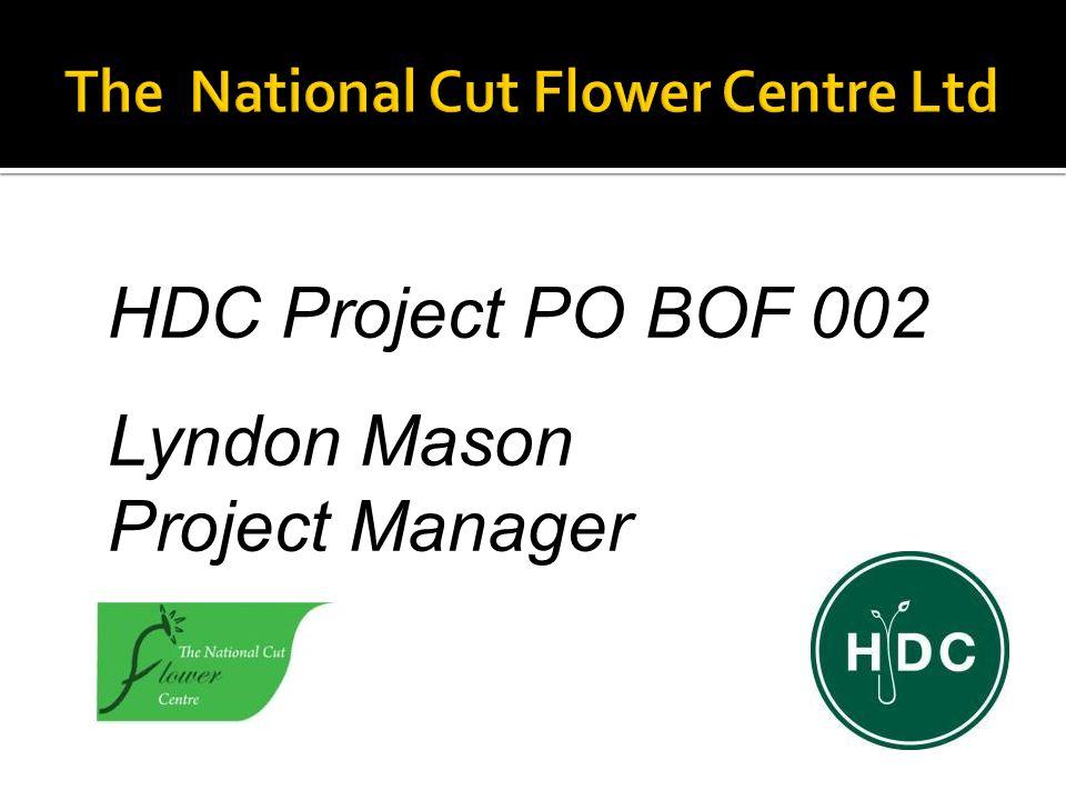 HDC Project PO BOF 002 Lyndon Mason Project Manager