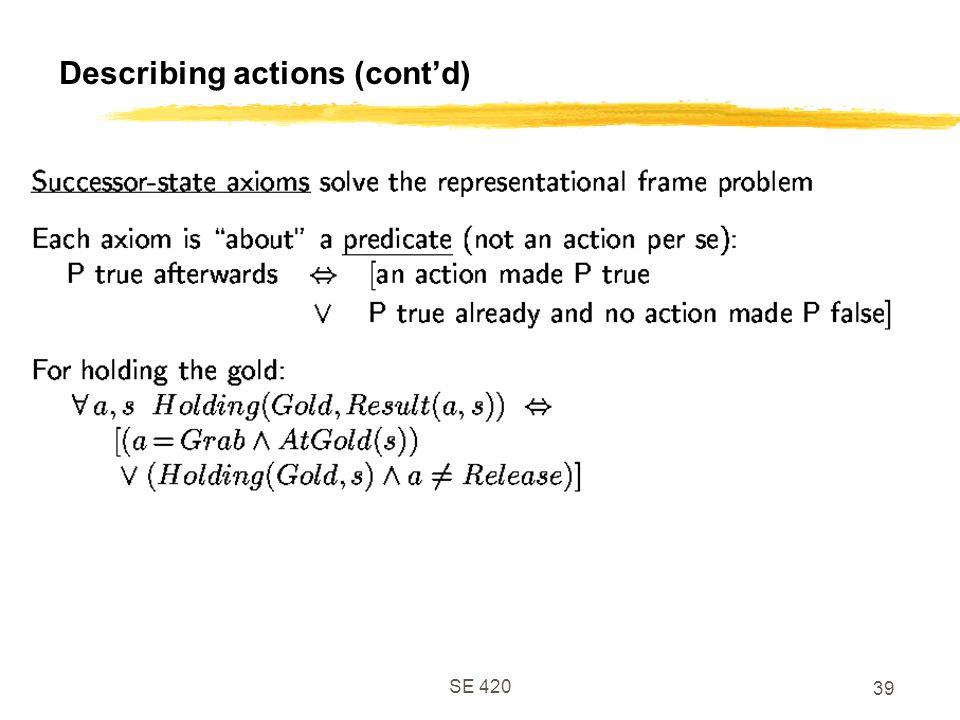 SE 420 39 Describing actions (cont'd)