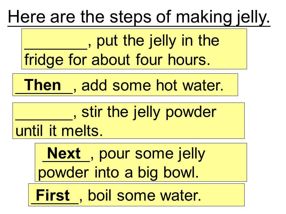 First, boil some water.