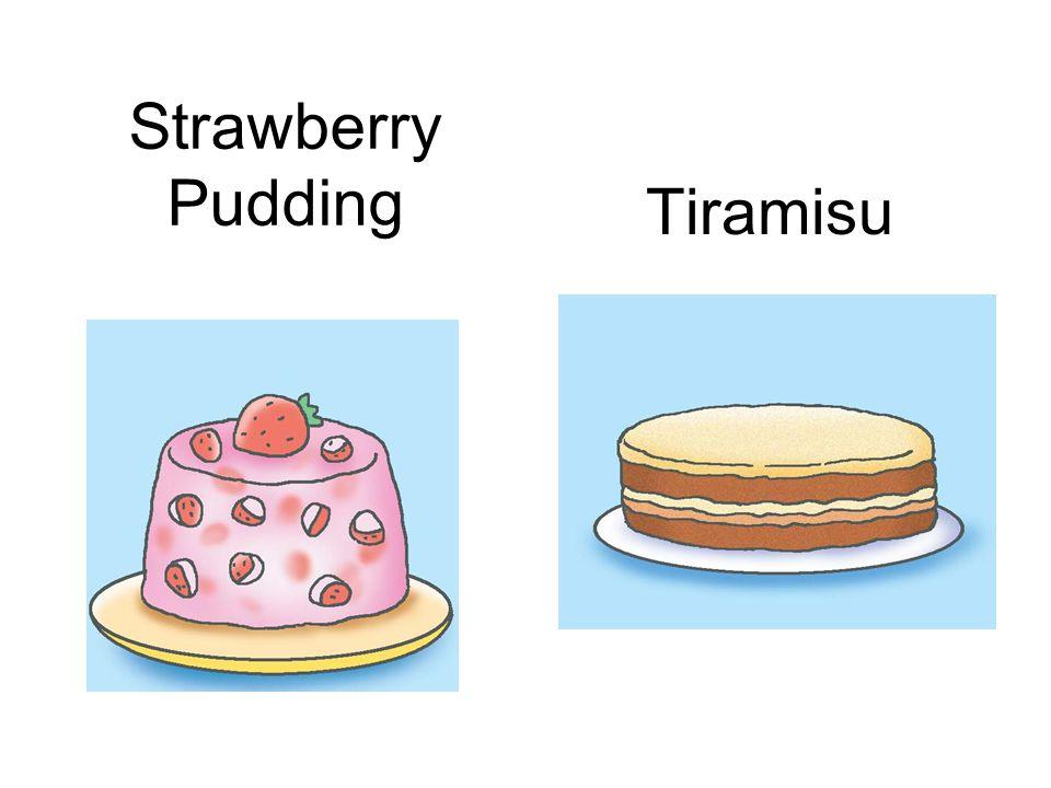 Tiramisu Strawberry Pudding