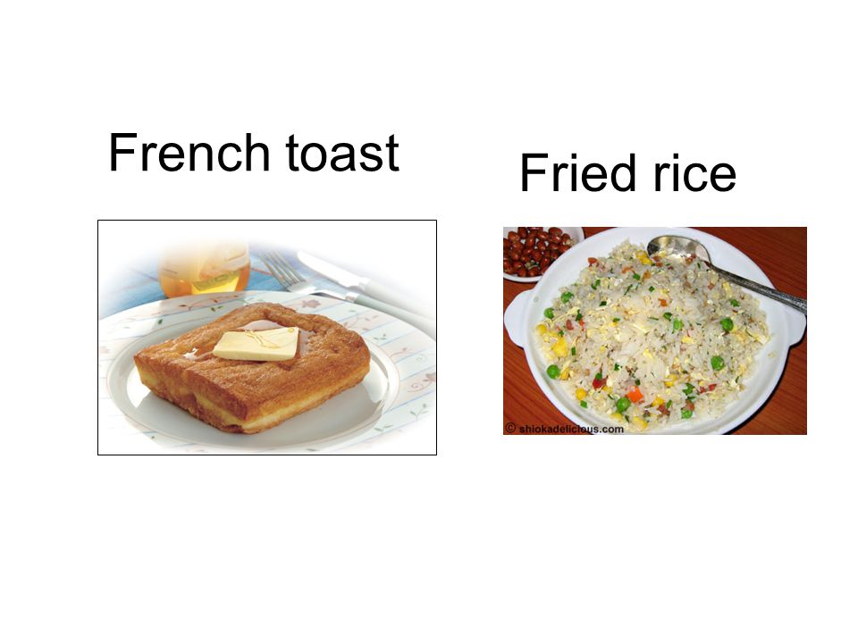 Fried rice French toast