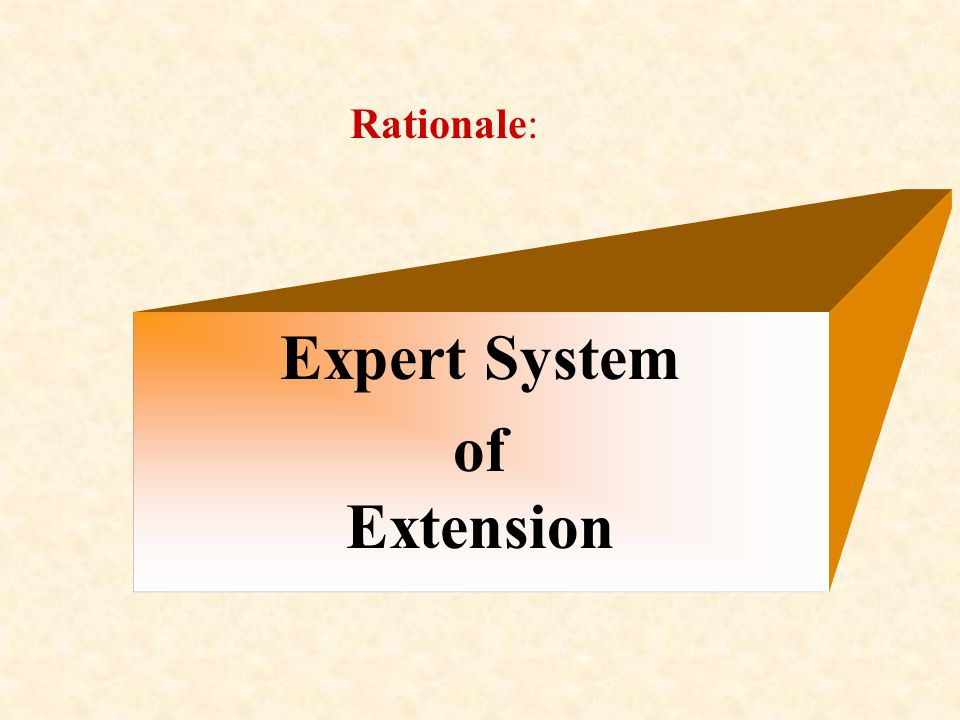 Rationale: Expert System of Extension