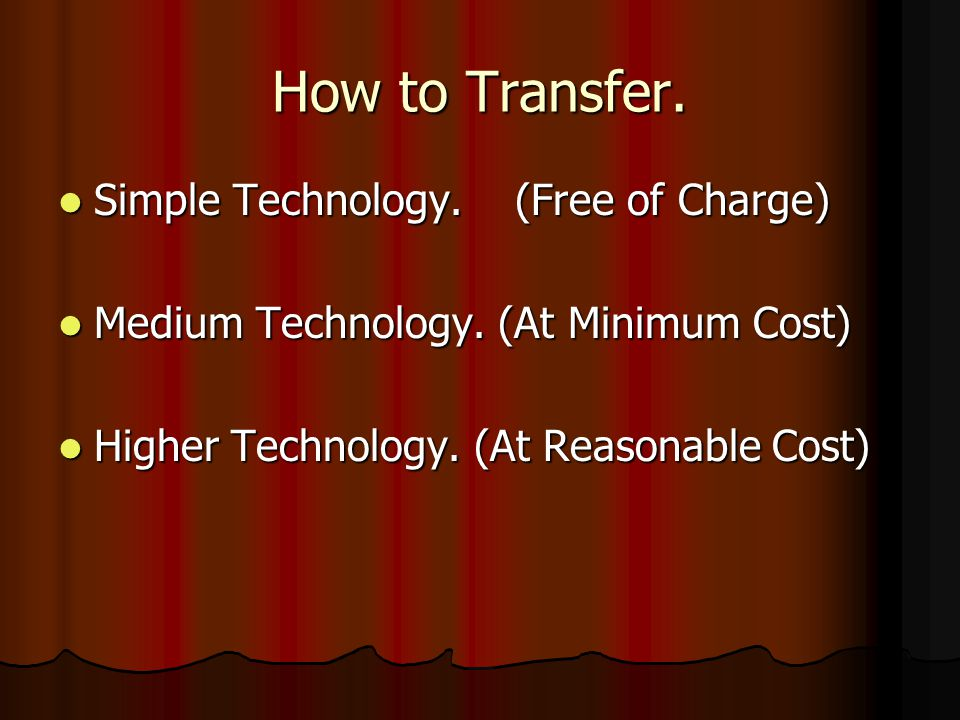 How to Transfer.Simple Technology. (Free of Charge) Simple Technology.