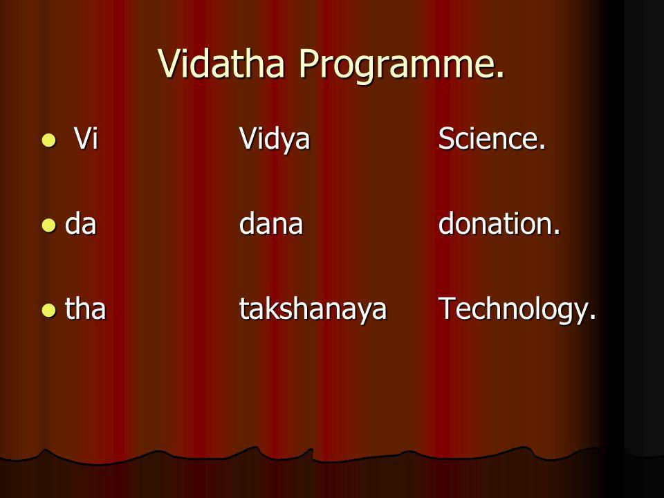 Vidatha Programme. Vi VidyaScience. Vi VidyaScience.