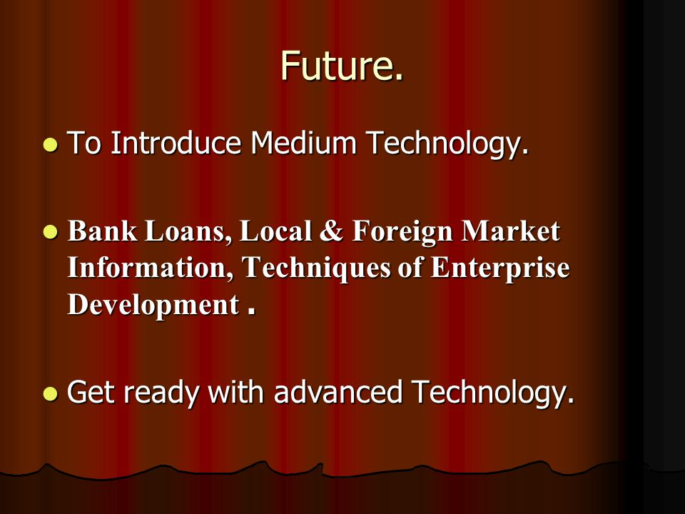 Future. To Introduce Medium Technology. To Introduce Medium Technology.