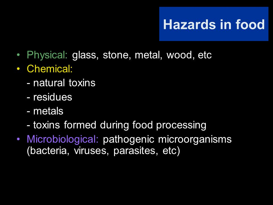 Foodborne Diseases Infections Poisonous Animal Tissues Poisonous Plant Tissues Chemical Poisoning Intoxications Microbial Intoxications OtherNeurotoxinsEnterotoxins ToxicoinfectionInvasive Infection Intestinal Mucosa SystemicOther Tissues or Organs (Muscle, Liver, Joints, Fetus, Other) Mycotoxins (Fungal Toxins) Algal Toxins Bacterial Toxins DiarrhogenicEmeticEnterotoxinsNeurotoxinsOther