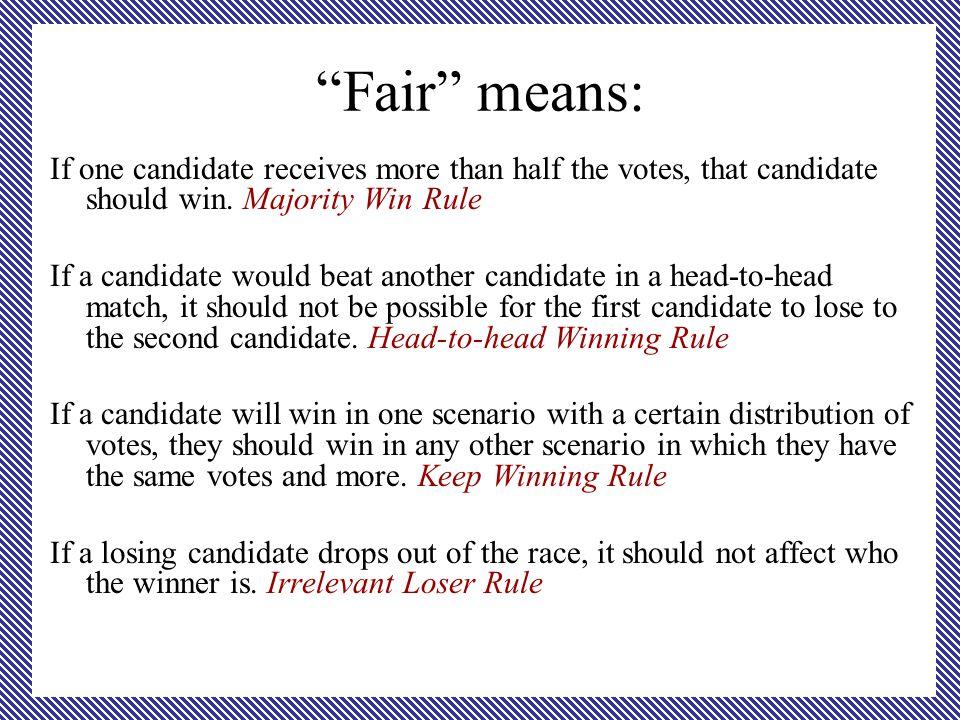 Majority verses Plurality We need to make a distinction between majority and plurality .