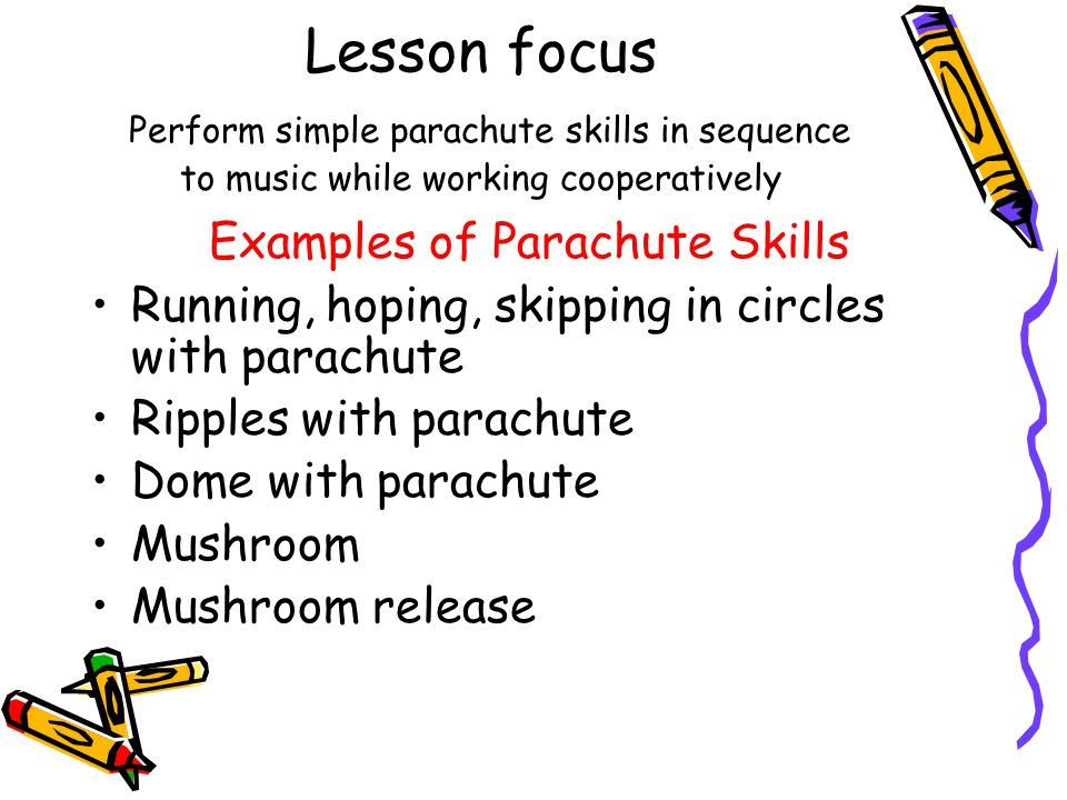 Closing Activity Ideals for the Parachute Team Ball Poison Snake Popcorn Variations of Popcorn Circular Dribble Chute crawl Routines to Music