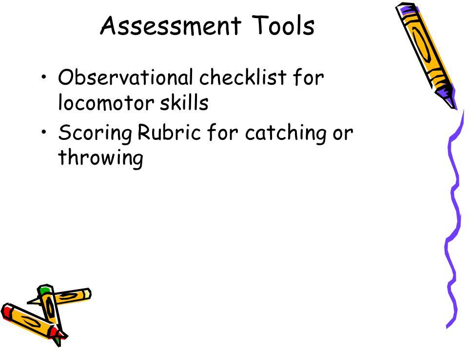 Example of Observational Checklist of Locomotor Skills