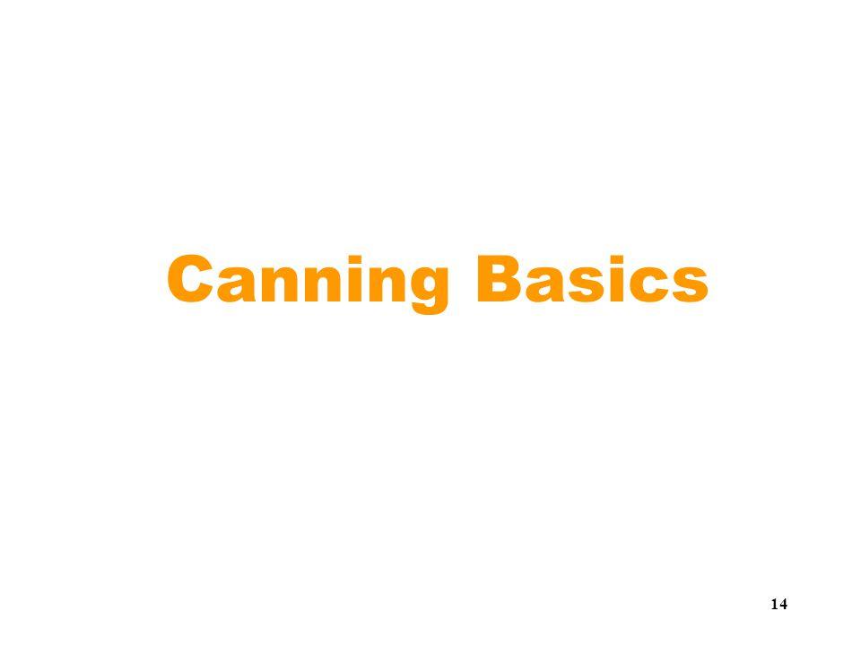 14 Canning Basics
