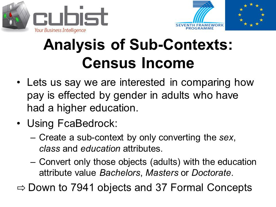 Analysis of Sub-Contexts: Census Income Lets us say we are interested in comparing how pay is effected by gender in adults who have had a higher educa