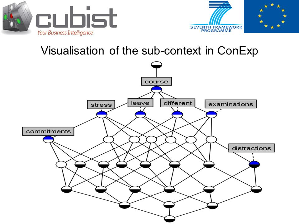 Visualisation of the sub-context in ConExp