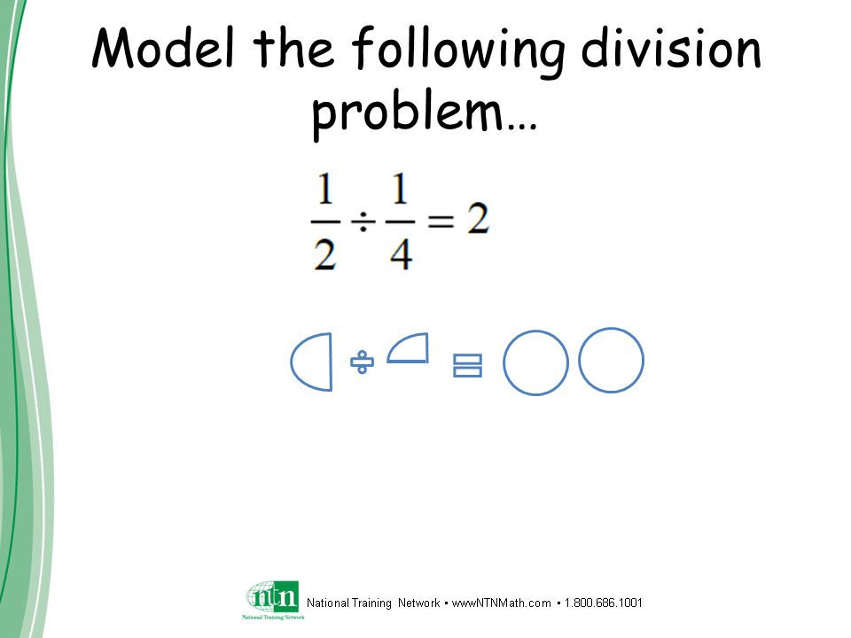 Model the following division problem…
